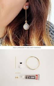 diy drop earrings 42 fabulous diy earrings you can make for next to nothing diy