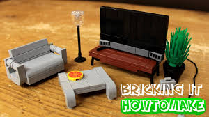 how to make lego modern living room furniture 2 0 moc basic