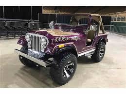 purple jeep cj 1976 jeep cj5 for sale classiccars com cc 1033519