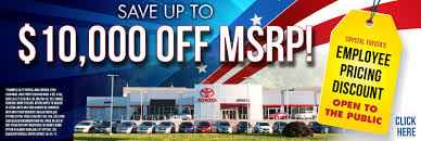 toyota dealership near me now crystal toyota green brook toyota dealership