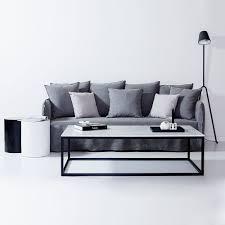 Grey Slipcover Sofa by Modern Designer Bronte Ash Grey Italian Linen Sofa Removable Slip