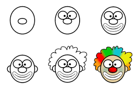 coloring page easy to draw clowns coloring pages of scary
