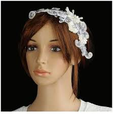 pearl headpiece magideal women charm mesh rhinestone pearl headpiece jewelry
