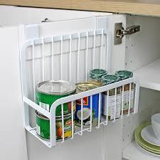 panier de cuisine creative métal sur porte de stockage panier pratique cuisine