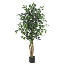 nearly 4 ft ficus silk tree 5299 the home depot