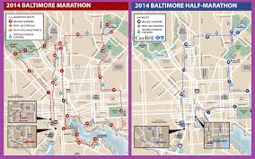 baltimore routes map the baltimore running festival maps closures wypr