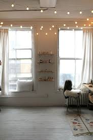 Canopy String Lights by Small Teenage Girl Bedroom Spaces With White Canopy Bed Curtains