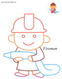 fireman coloring pages preschool crafts