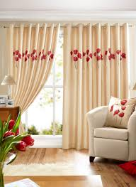 poppies lined eyelet curtains cream free uk delivery terrys
