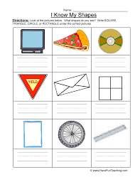 geometric shapes worksheet have fun teaching