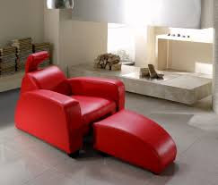 Red Leather Chaise Lounge Chairs Modern Red Leather Lounge Chair And Ottoman