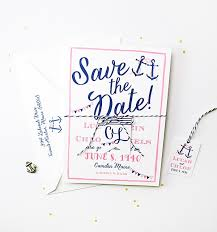nautical save the date tie the knot save the dates custom invitations unique wedding