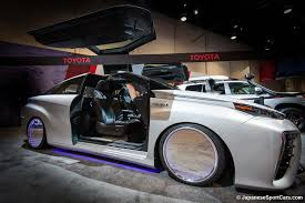 future toyota back to the future inspired custom toyota mirai with gullwing