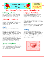100 classroom newsletter template word worddraw com free
