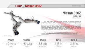nissan 350z y pipe uk ark performance nissan 350z z33 03 08 grip cat back exhaust
