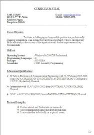 Best Resume Format In Word by Best Resume Objective Statement Free Download Sample Template