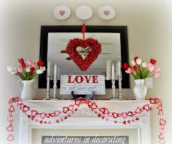 Adventures In Decorating 2015 Valentine Mantel Heart And Home
