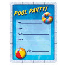 birthday invitation for teenager amazon com pool party invitations party accessory toys u0026 games