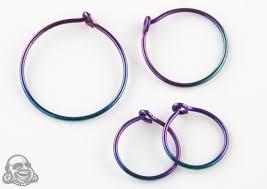niobium earrings hoop earring