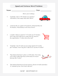 Speed Velocity And Acceleration Calculations Worksheet Answers Speed Worksheet Grade 5 Or 6 Math Speed Worksheet Based On