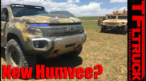 unarmored humvee is the chevy colorado zh2 the new humvee youtube