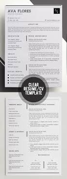 Template Professional Resume Clear Professional Resume Personal Profile Contact Info Resume