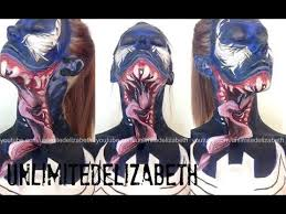 spider man venom face u0026 body paint tutorial unlimitedelizabeth