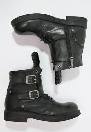 buy womens biker boots replay cheap replay misey cowboy biker boots schwarz women ankle