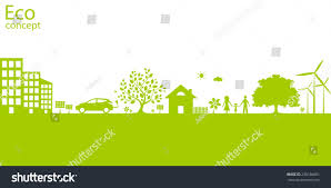 environmentally friendly world vector illustration ecology stock