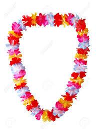 hawaiian leis hawaiian necklace isolated on white background stock photo