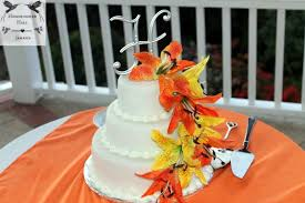 luxury destination weddings in jamaica tropical lily wedding cake