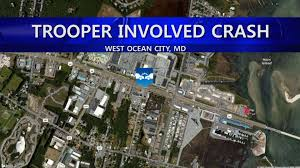 Ocean City Md Map Msp Trooper Injured In Crash With Intoxicated Driver Wboc Tv 16