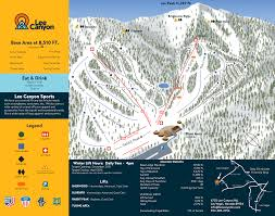 Utah Ski Resort Map by Trail Map Las Vegas Ski And Snowboard Resort U2013 Lee Canyon