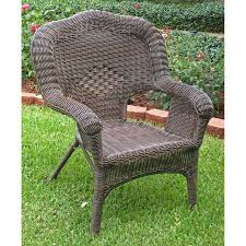 Resin Patio Chair International Caravan Wicker Resin Patio Chair Walmart