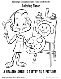 sumptuous design inspiration dental health month coloring pages