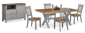 nantucket dining collection oak and gray value city furniture