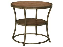 signature design by ashley narina rustic metal frame round end