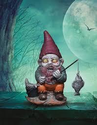 halloween mini ornaments amazon com thumbs up mini zombie gnomes set of 3 patio lawn