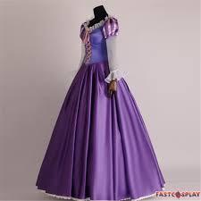 disney tangled princess rapunzel cosplay costume deluxe dress