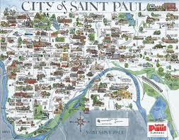Minnesota travel belt images Roberta avidor hand drawn city of st paul map twin cities jpg