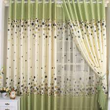 Lime Green Blackout Curtains Polyester And Cotton Polka Dots Blackout Curtains In Green Buy
