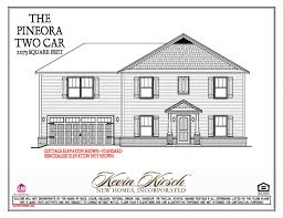 the pineora two car floor plans kevin kirsch homes