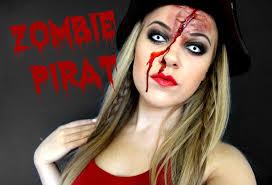 halloween pirate makeup zombie pirat makeup look horroktober youtube