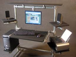 computer desk with monitor mount ideas greenvirals style