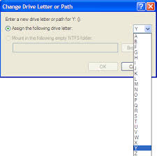 re assigning a drive letter