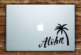 aloha palm tree quote laptop decal sticker vinyl art quote macbook