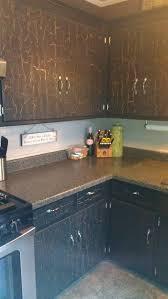 Crackle Kitchen Cabinets Antique Black Kitchen Cabinets So Easy Valspar Crackle Glaze