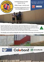 job quotes perth about fosters fencing