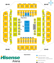 hisense arena seating map multi purpose venue austadiums