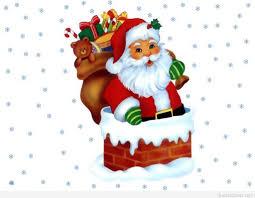 funny santa christmas cartoon image